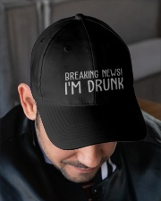 Breaking news I'm drunk cap Embroidered Hat garment-embroidery-hat-lifestyle-02