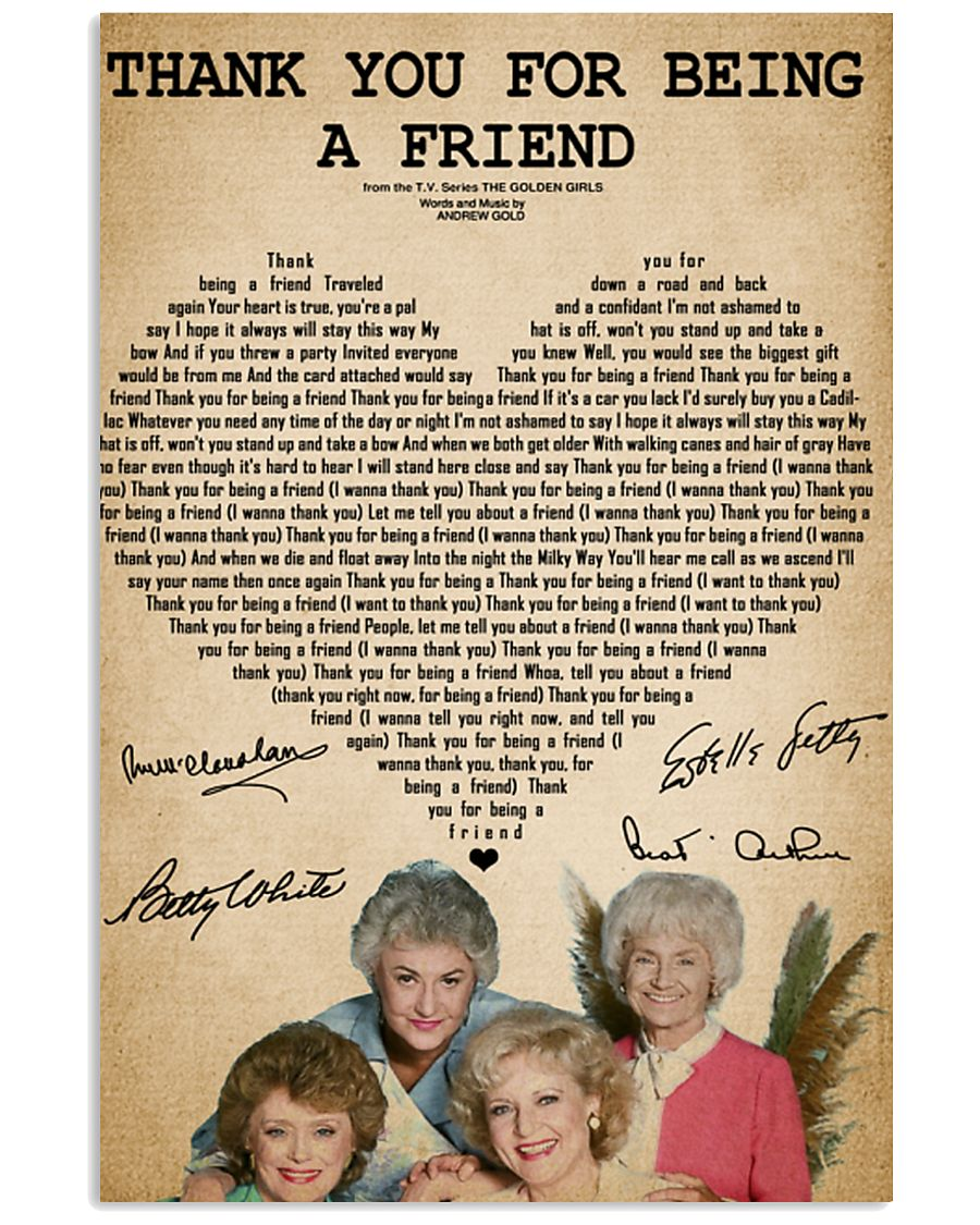 The golden girls thank you for being a friend post 11x17 Poster