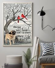 Pug dog those we love don't go away they walk besi 11x17 Poster lifestyle-poster-1
