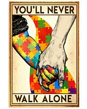 Autism you will never walk alone poster 11x17 Poster front
