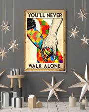 Autism you will never walk alone poster 11x17 Poster lifestyle-holiday-poster-1
