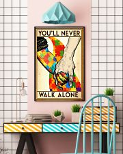 Autism you will never walk alone poster 11x17 Poster lifestyle-poster-6