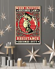 When injustice becomes law resistance becomes duty 11x17 Poster lifestyle-holiday-poster-1