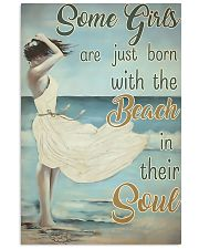 Some girls are just born with the beach in their s 11x17 Poster front