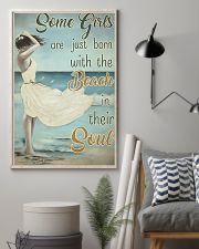 Some girls are just born with the beach in their s 11x17 Poster lifestyle-poster-1