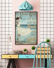 Some girls are just born with the beach in their s 11x17 Poster lifestyle-poster-6