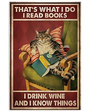 Cat that's what I do I read books I drink wine and 11x17 Poster front