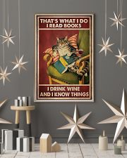 Cat that's what I do I read books I drink wine and 11x17 Poster lifestyle-holiday-poster-1