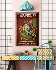 Cat that's what I do I read books I drink wine and 11x17 Poster lifestyle-poster-6