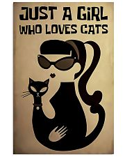 Just a girl who loves cat poster 11x17 Poster front