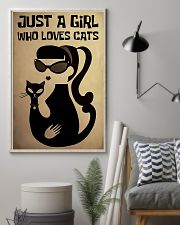 Just a girl who loves cat poster 11x17 Poster lifestyle-poster-1