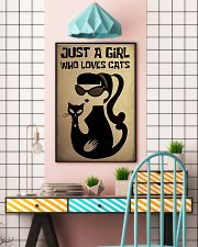 Just a girl who loves cat poster 11x17 Poster lifestyle-poster-6