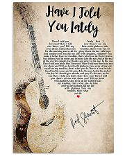 Guitar have I told you lately lyrics poster 11x17 Poster front