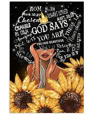 Black Girl Sunflower God says you are beautiful po 11x17 Poster front