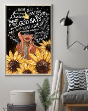 Black Girl Sunflower God says you are beautiful po 11x17 Poster lifestyle-poster-1