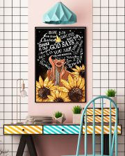Black Girl Sunflower God says you are beautiful po 11x17 Poster lifestyle-poster-6