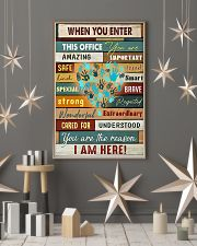 When you enter this office you are amazing importa 11x17 Poster lifestyle-holiday-poster-1