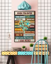 When you enter this office you are amazing importa 11x17 Poster lifestyle-poster-6