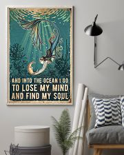 Mermaid and into the ocean I go to lose my mind an 11x17 Poster lifestyle-poster-1