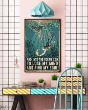Mermaid and into the ocean I go to lose my mind an 11x17 Poster lifestyle-poster-6