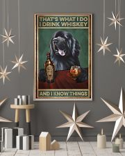 Newfoundland dog that's what I do I drink whiskey  11x17 Poster lifestyle-holiday-poster-1