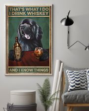 Newfoundland dog that's what I do I drink whiskey  11x17 Poster lifestyle-poster-1