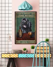 Newfoundland dog that's what I do I drink whiskey  11x17 Poster lifestyle-poster-6