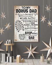 To my bonus dad thank you for stepping in and beco 11x17 Poster lifestyle-holiday-poster-1