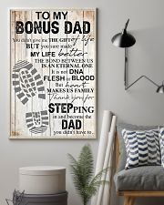 To my bonus dad thank you for stepping in and beco 11x17 Poster lifestyle-poster-1