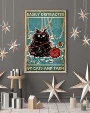 Easily distracted by cats and yarn poster 11x17 Poster lifestyle-holiday-poster-1