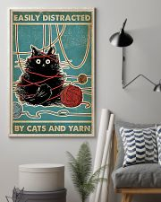 Easily distracted by cats and yarn poster 11x17 Poster lifestyle-poster-1