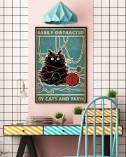 Easily distracted by cats and yarn poster 11x17 Poster lifestyle-poster-6