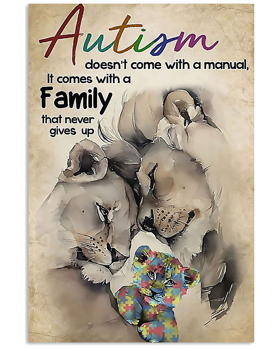 Lion Autism doesn't come with a manual it comes wi 11x17 Poster