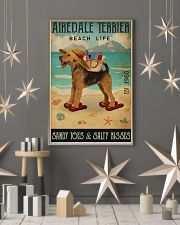 Airedale terrier beach life sandy toes and salty k 11x17 Poster lifestyle-holiday-poster-1