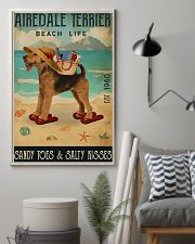 Airedale terrier beach life sandy toes and salty k 11x17 Poster lifestyle-poster-1