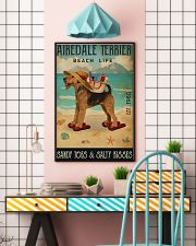 Airedale terrier beach life sandy toes and salty k 11x17 Poster lifestyle-poster-6