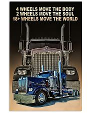4 wheels move the body poster 11x17 Poster front
