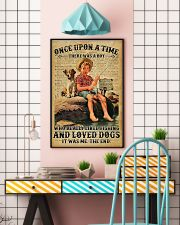 There was a boy who really liked fishing and loved 11x17 Poster lifestyle-poster-6