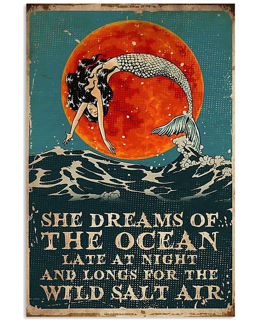 Mermaid she dreams of the ocean late at night salt 11x17 Poster