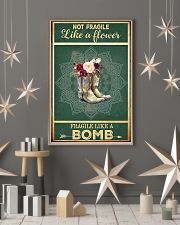 Boots not fragile like a flower fragile like a bom 11x17 Poster lifestyle-holiday-poster-1