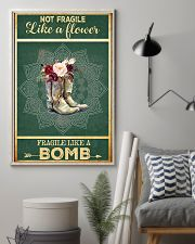 Boots not fragile like a flower fragile like a bom 11x17 Poster lifestyle-poster-1