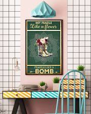 Boots not fragile like a flower fragile like a bom 11x17 Poster lifestyle-poster-6