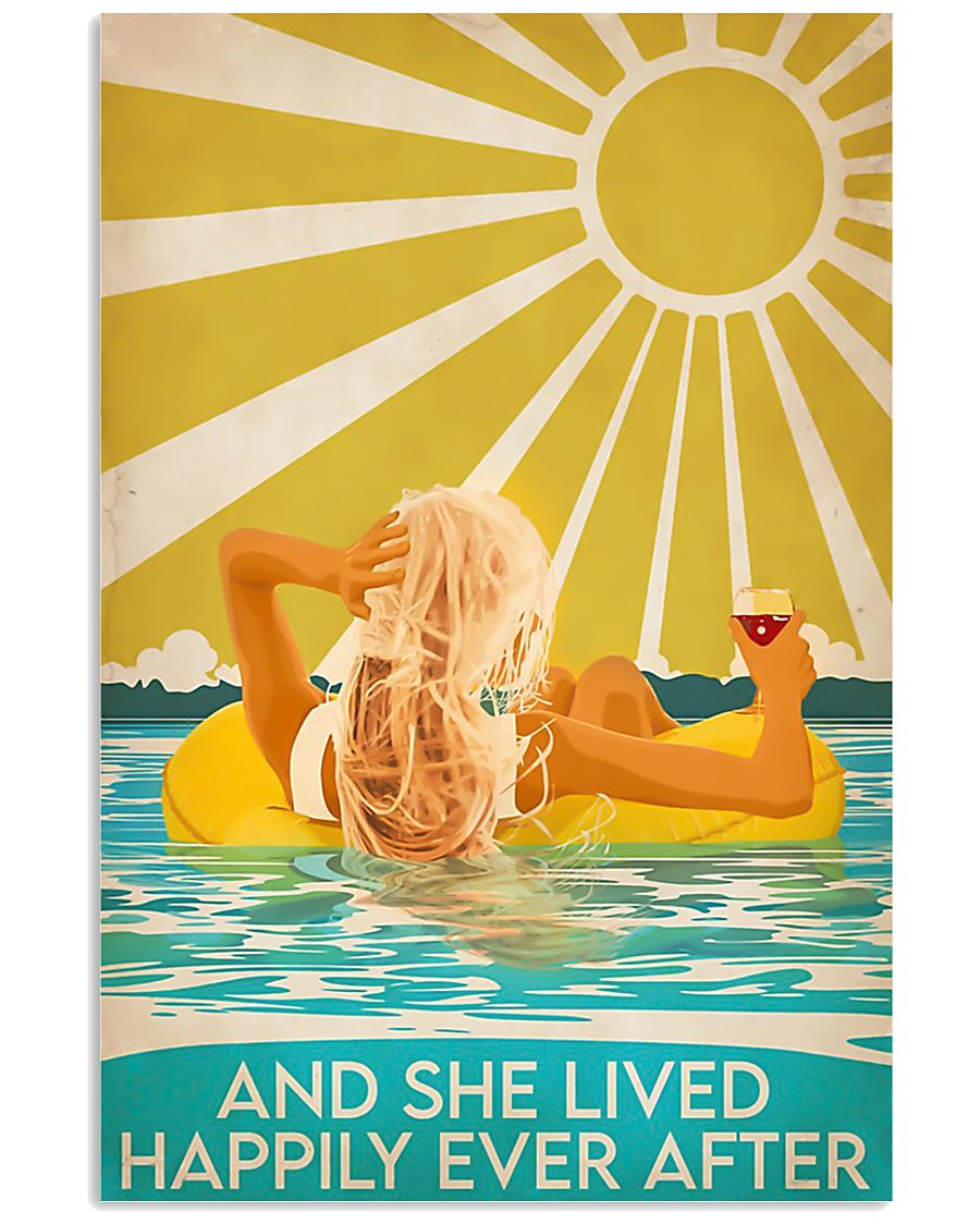 Swimming blonde and she lived happily ever after p 11x17 Poster