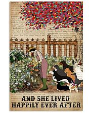 Garden Girl and dogs and she lived happily ever af 11x17 Poster front