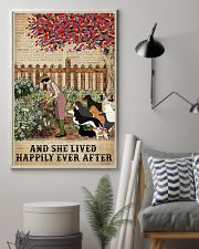 Garden Girl and dogs and she lived happily ever af 11x17 Poster lifestyle-poster-1