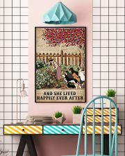 Garden Girl and dogs and she lived happily ever af 11x17 Poster lifestyle-poster-6