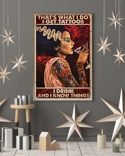 That's what I do I get tattoos I drink and I know  11x17 Poster lifestyle-holiday-poster-1
