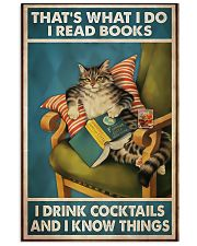 Cat that's what I do I read books I drink cocktail 11x17 Poster front