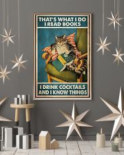 Cat that's what I do I read books I drink cocktail 11x17 Poster lifestyle-holiday-poster-1