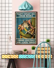 Cat that's what I do I read books I drink cocktail 11x17 Poster lifestyle-poster-6
